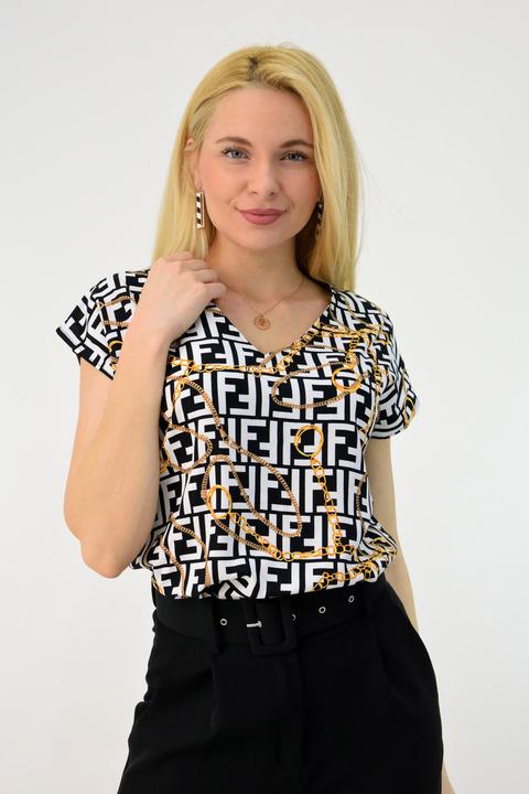 Γυναικείο πουκάμισο κοντομάνικο - Λευκό