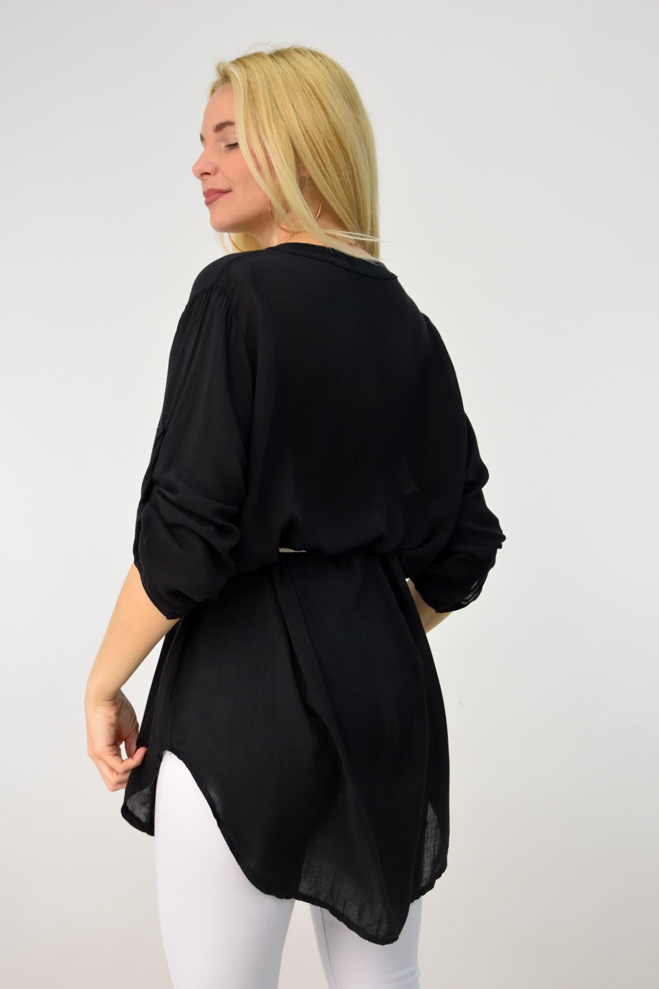 abd8a940ceab Γυναικεία αέρινη πουκαμίσα με ζώνη