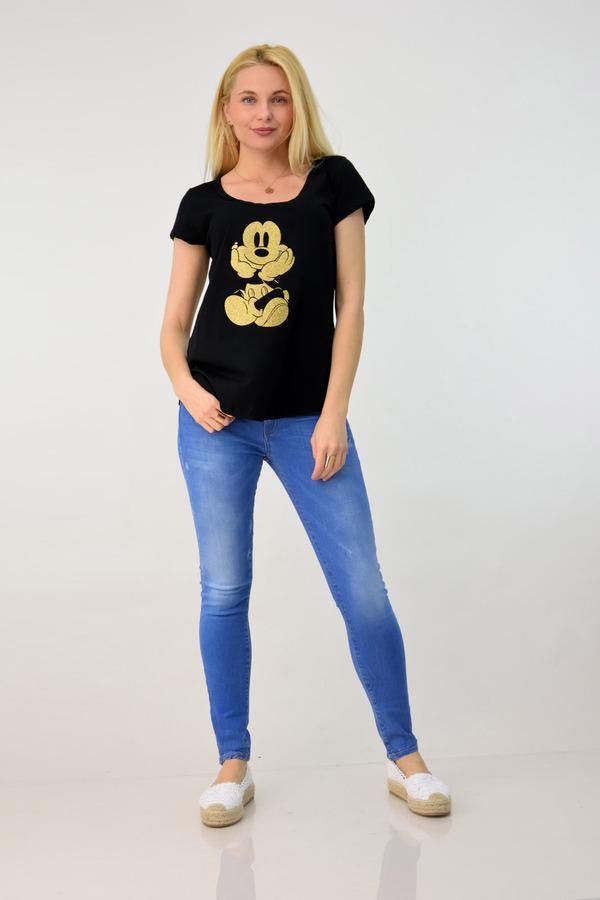 f1ce4cf0cfc1 First Woman · Potre · Μπλουζάκι mickey - Μαύρο ...