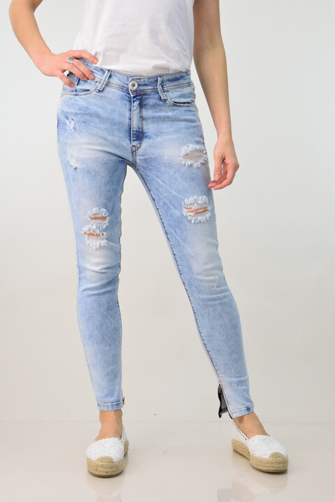 Γυναικείο παντελόνι τζιν skinny - Μπλε Τζιν