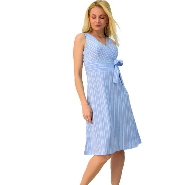 dd7c13dbe8e8 Κρουαζέ φόρεμα με όψη λινού | POTRE