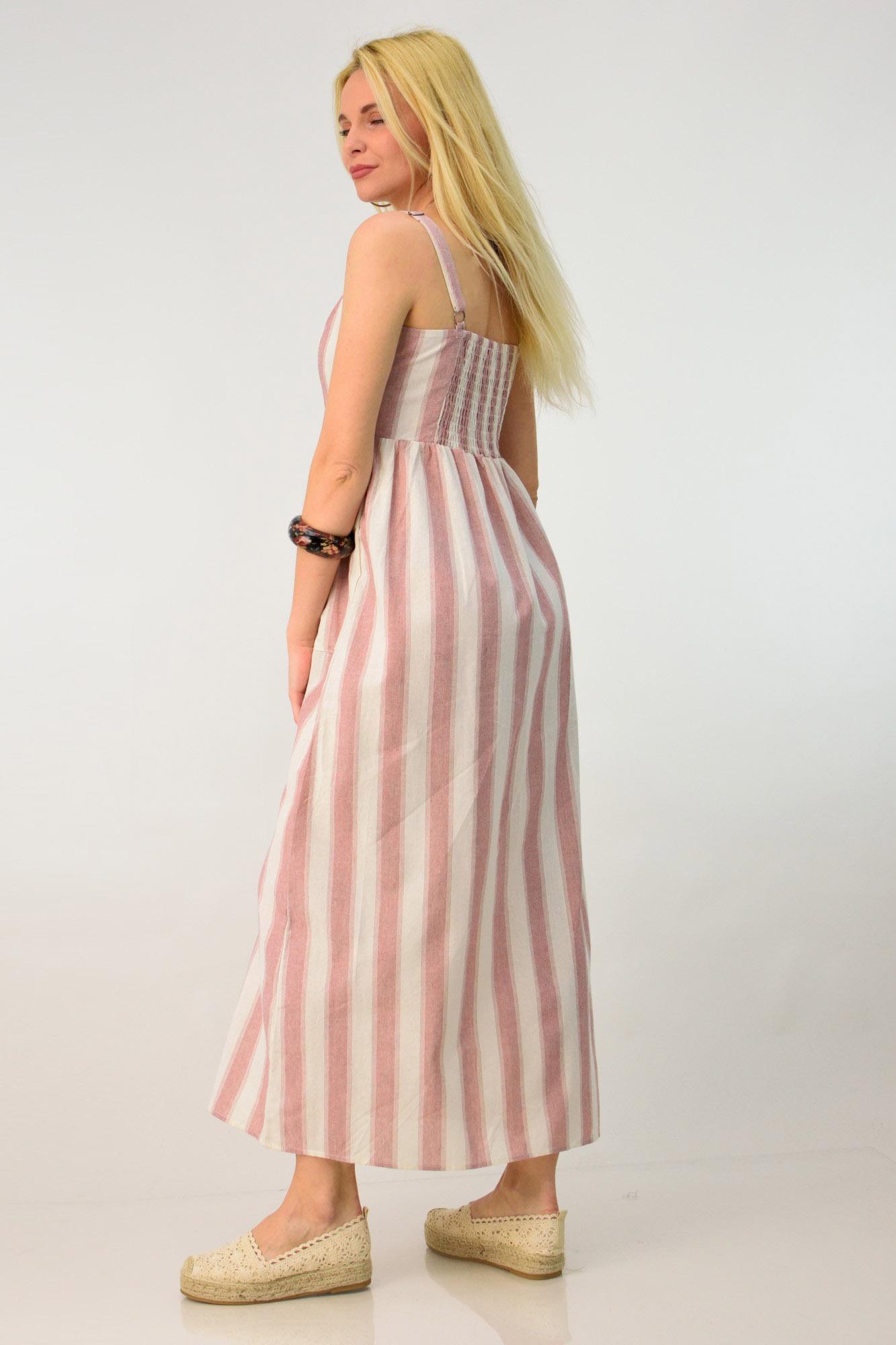 b2fb34c25d5d Λινό φόρεμα με τσέπες. Tap to expand