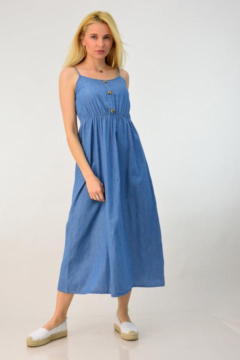 Φόρεμα τζιν με τιράντες -