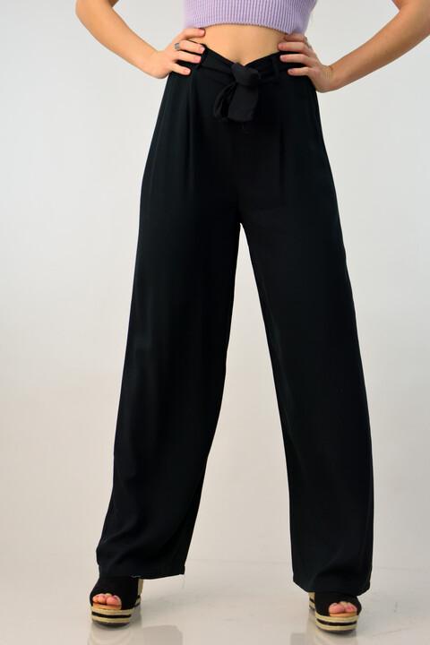 Γυναικεία παντελόνα basic - Μαύρο