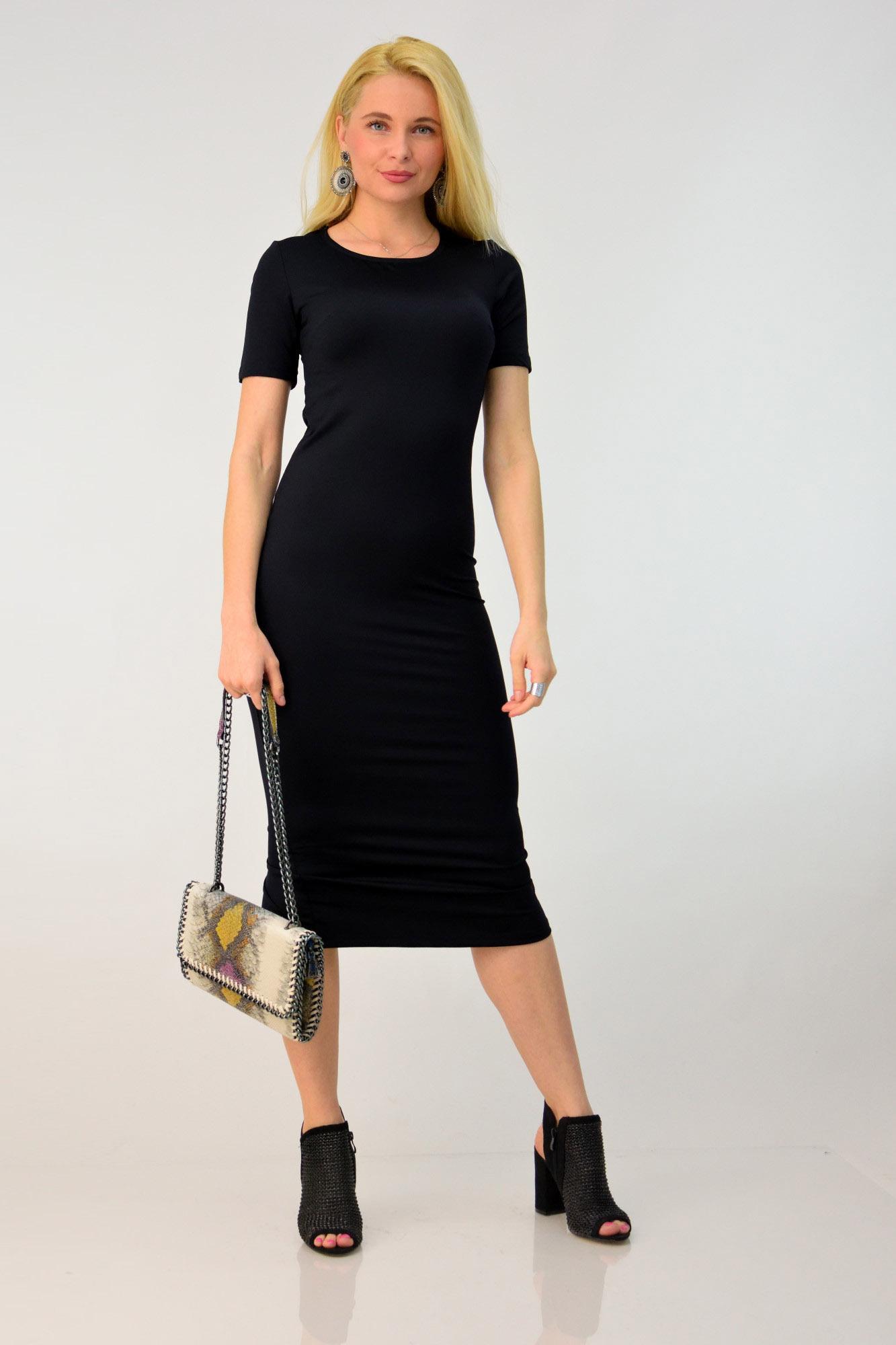 372f357c977c Γυναικείο φόρεμα εφαρμοστό midi. Tap to expand