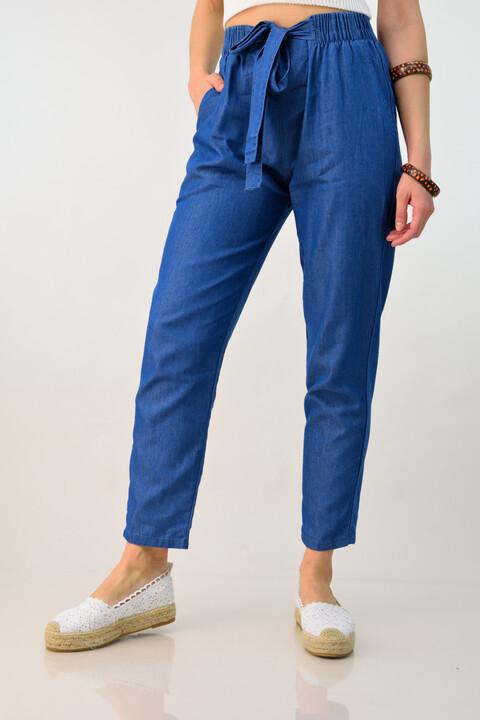 Γυναικείο παντελόνι τύπου τζιν - Μπλε Τζιν