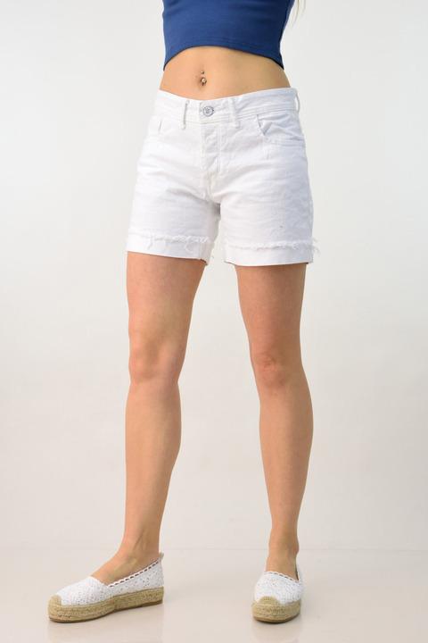 Γυναικείο σορτς λευκό - Λευκό