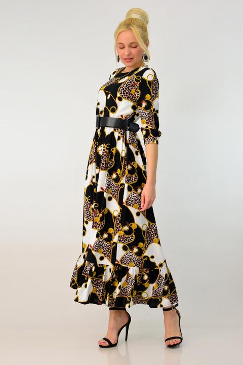 Γυναικείο μάξι φόρεμα - Μαύρο