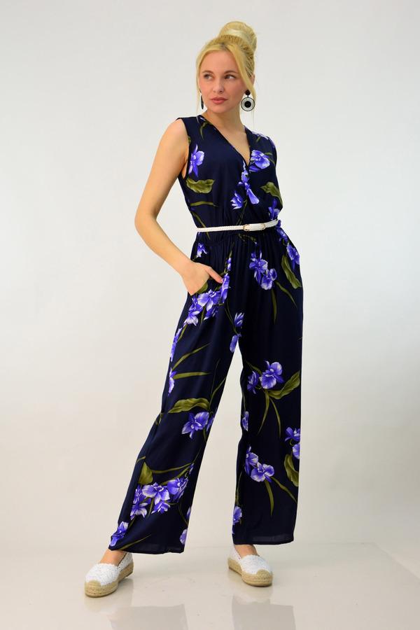 9711f8a07c6b Ολόσωμη φόρμα floral - Μπλε Σκούρο ...