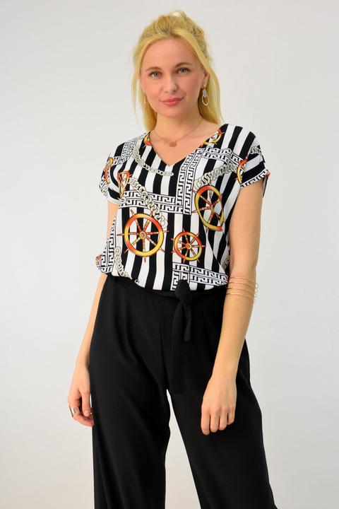 Γυναικείο πουκάμισο αμάνικο - Μαύρο