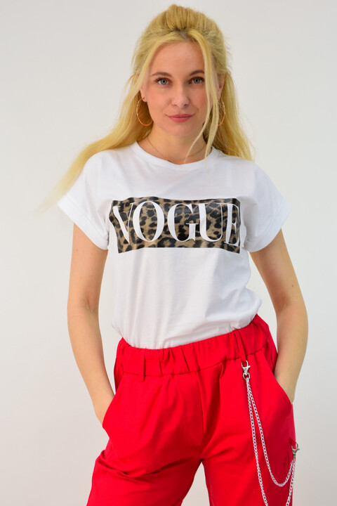 Γυναικείο t-shirt vogue - Λευκό
