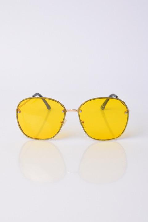 Γυαλιά ηλίου με γκλίτερ - Κίτρινο