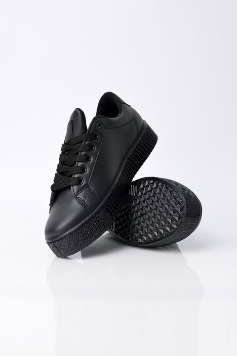 Γυναικεία παπούτσια sneakers μαύρα - Μαύρο