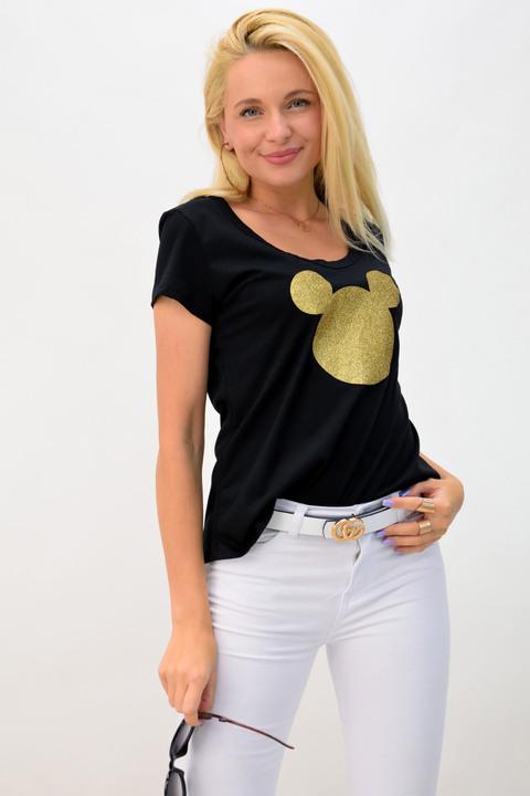 Μπλουζάκι gold mickey - Μαύρο