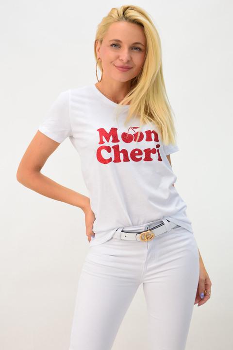 Μπλουζάκι moon cheri - Λευκό