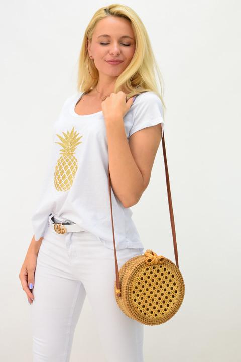 Μπλουζάκι ανανάς - Λευκό