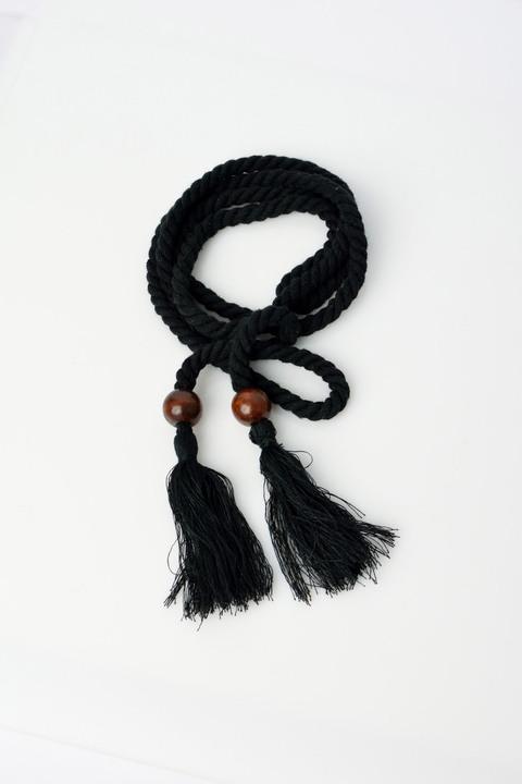 Γυναικεία ζώνη κορδόνι - Μαύρο