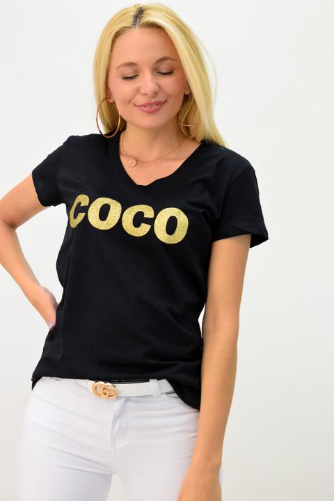 Μπλουζάκι μαύρο coco - Μαύρο