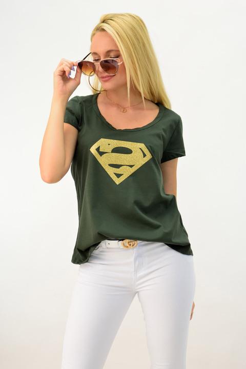 Μπλουζάκι superman - Χακί