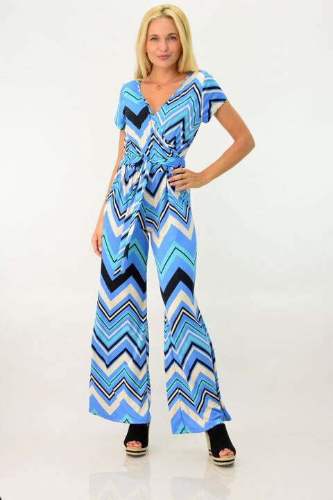 Γυναικεία ολόσωμη φόρμα κρουαζέ - Γαλάζιο