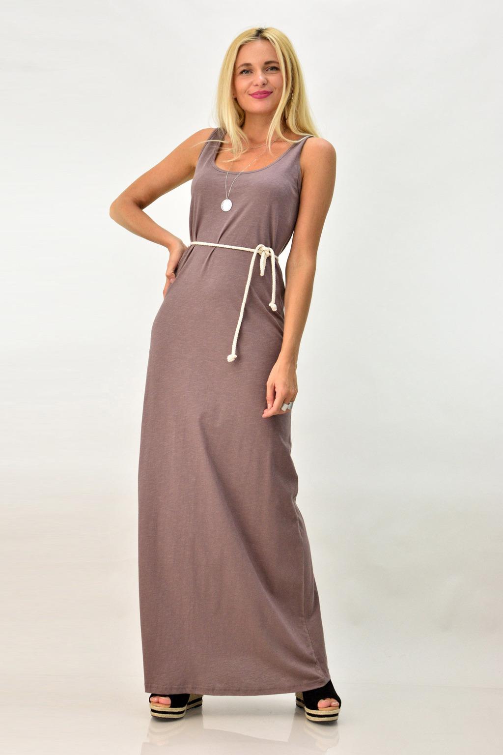 7ff699a76f2 Μακρύ καθημερινό φόρεμα με άνοιγμα στη πλάτη