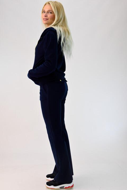 Βελουτέ φόρμα σετ μπλε σκούρο - Μπλε Σκούρο