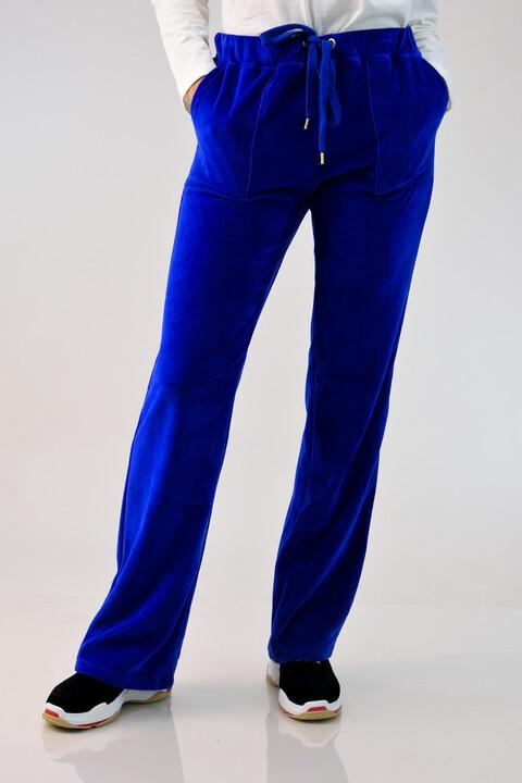 Παντελόνι βελουτέ μπλε ρουά -