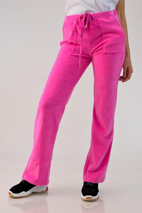 Ροζ βελουτέ παντελόνι - Ροζ