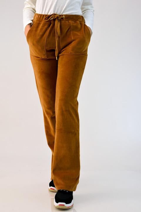Κάμελ παντελόνι βελουτέ φόρμας - Κάμελ