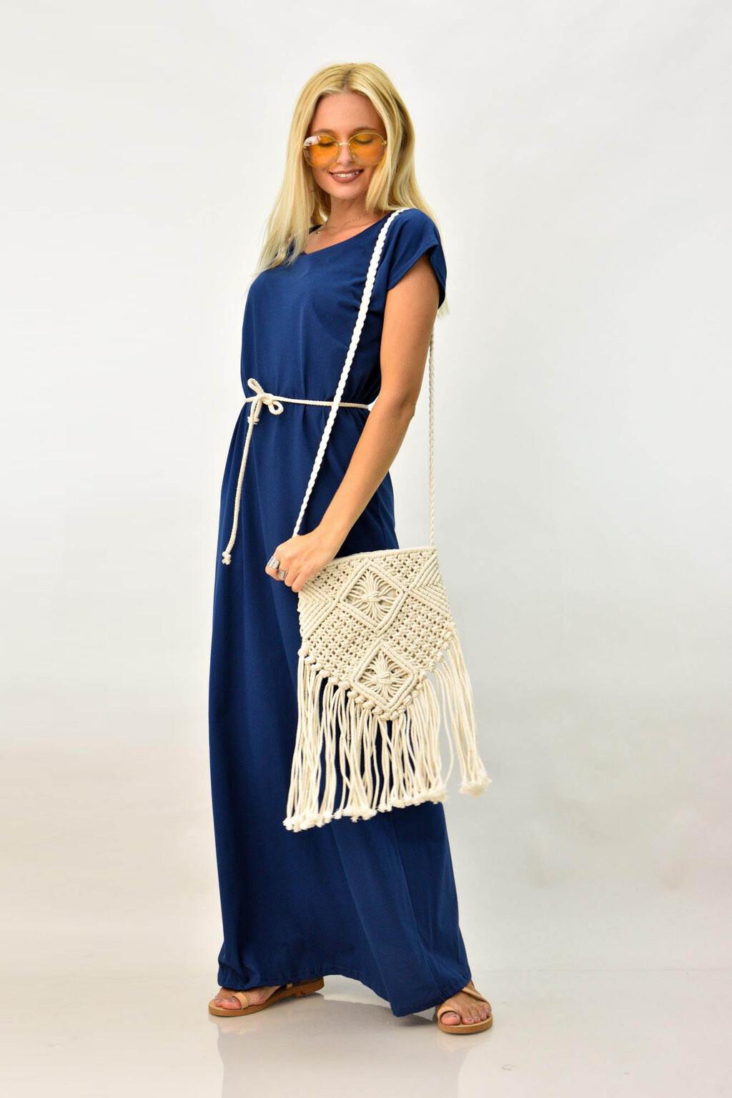79eb66f715b Καθημερινό φόρεμα μακό με ζώνη   Καθημερινά Φορέματα   POTRE