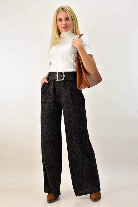 Γυναικεία παντελόνα ψηλόμεση - Ανθρακί