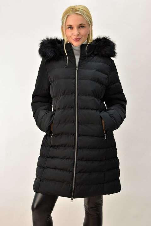 Γυναικείο μπουφάν plus size μαύρο - Μαύρο