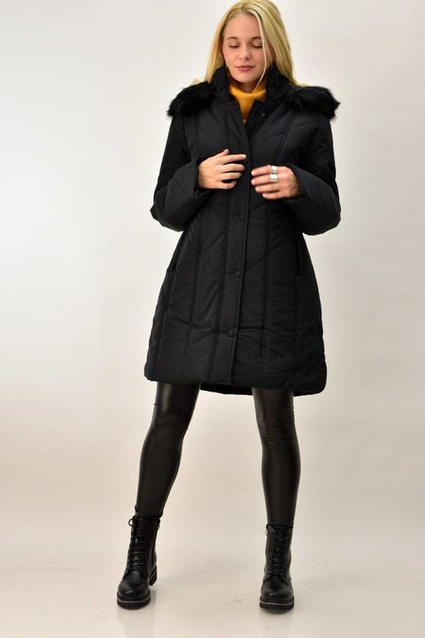 Γυναικείο μπουφάν plus size - Μαύρο