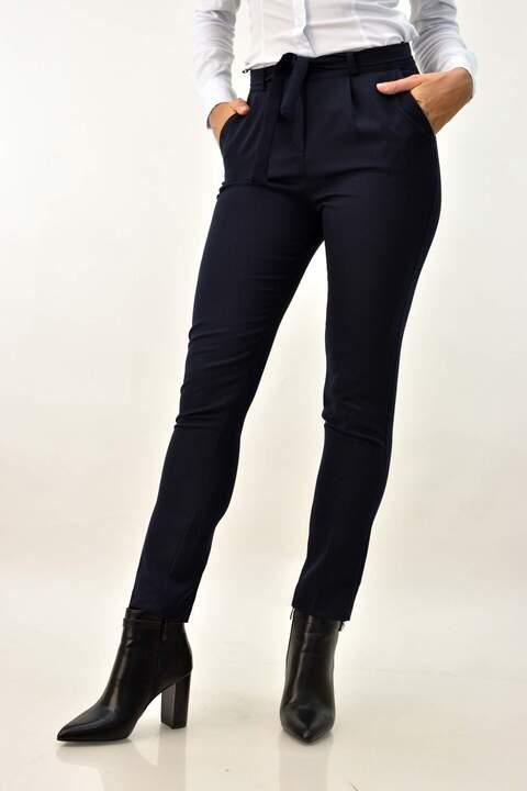 Γυναικείο παντελόνι εφαρμοστό - Μπλε Σκούρο
