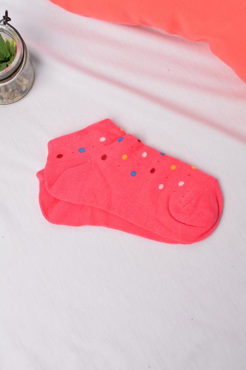 Παιδικά καλτσάκια πουά - Κοραλί