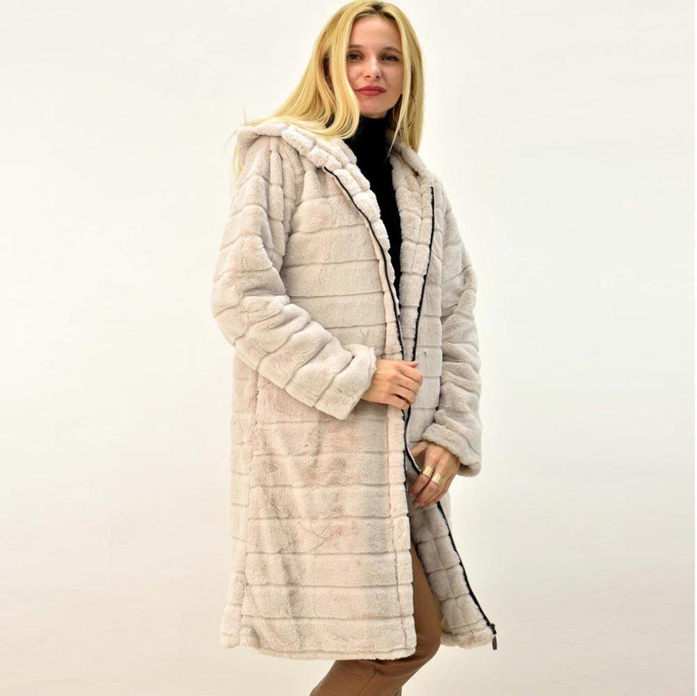 Μακρύ γυναικείο παλτό γούνα