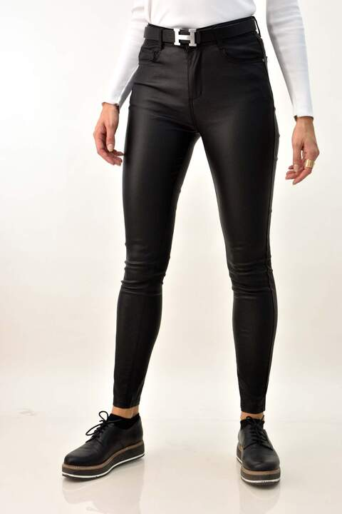 Δερμάτινο παντελόνι - Μαύρο