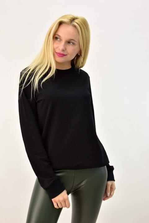 Γυναικεία μπλούζα φούτερ - Μαύρο