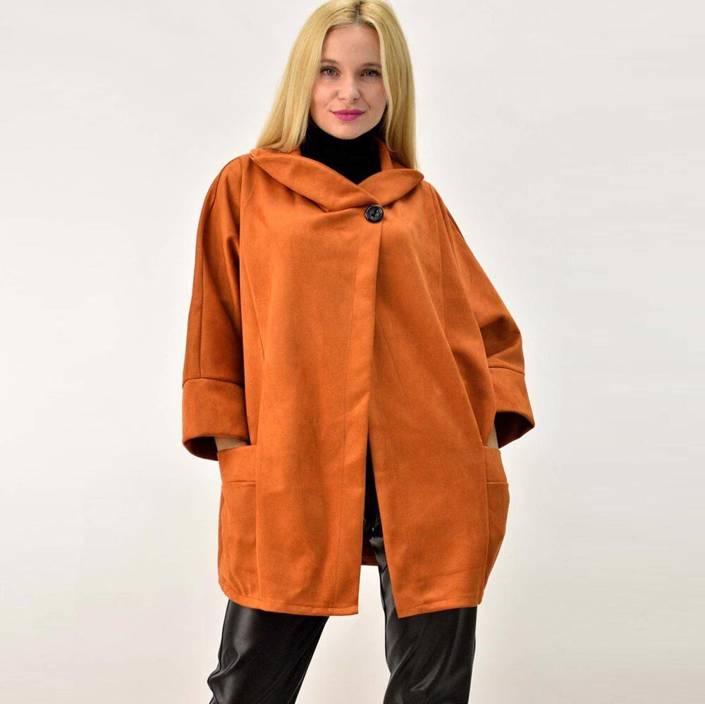 Γυναικείο παλτό μουτόν oversized