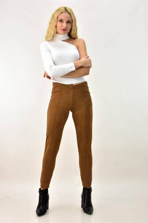 Παντελόνι skinny σουετ - Ταμπά