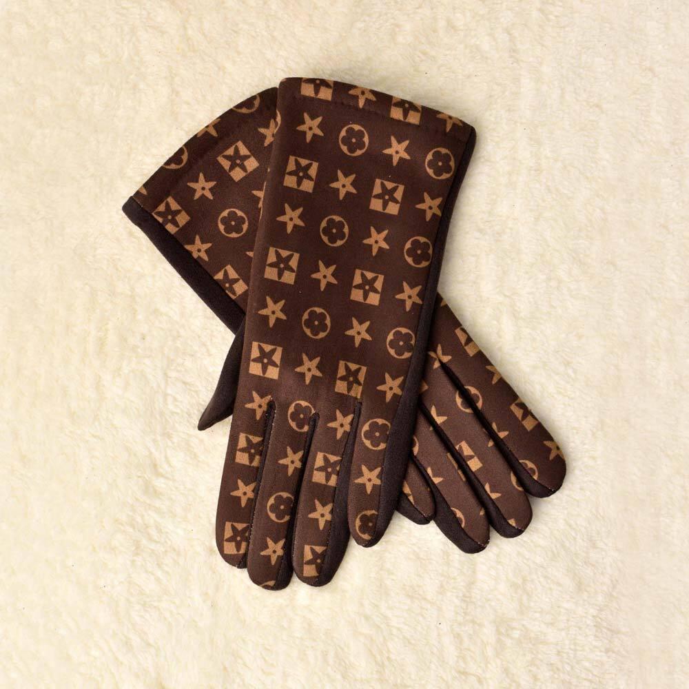 Γυναικεία γάντια με τύπωμα