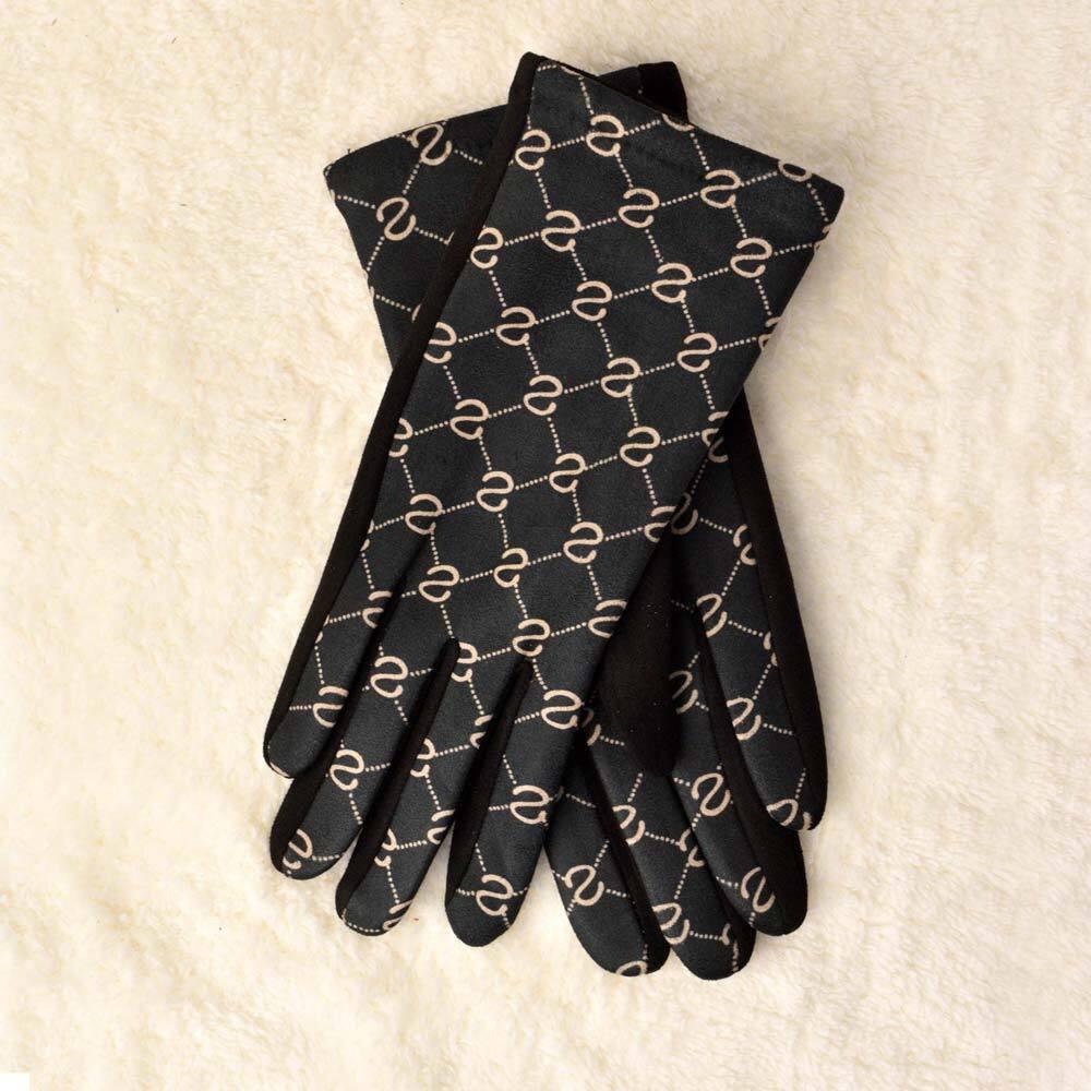 Γυναικεία γάντια με τύπωμα σχέδιο S