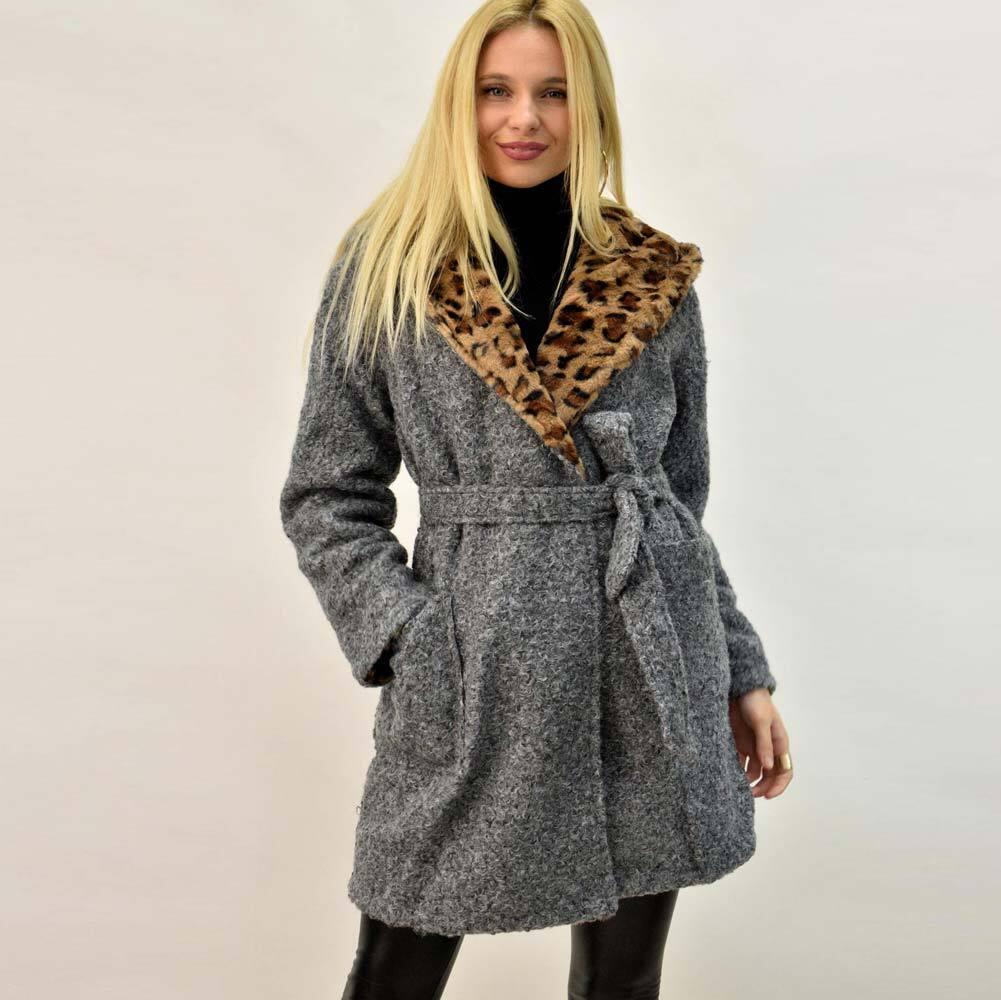 Παλτό ντουμπλφας σε animal print