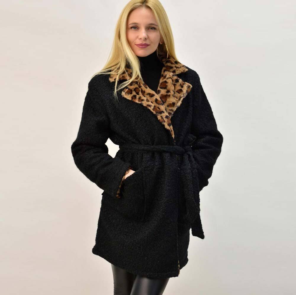 Γυναικείο παλτό ντουμπλφας
