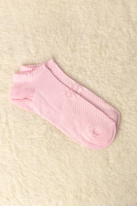 Γυναικείες κάλτσες με αναγλυφο σχέδιο φιογκάκι - Ροζ