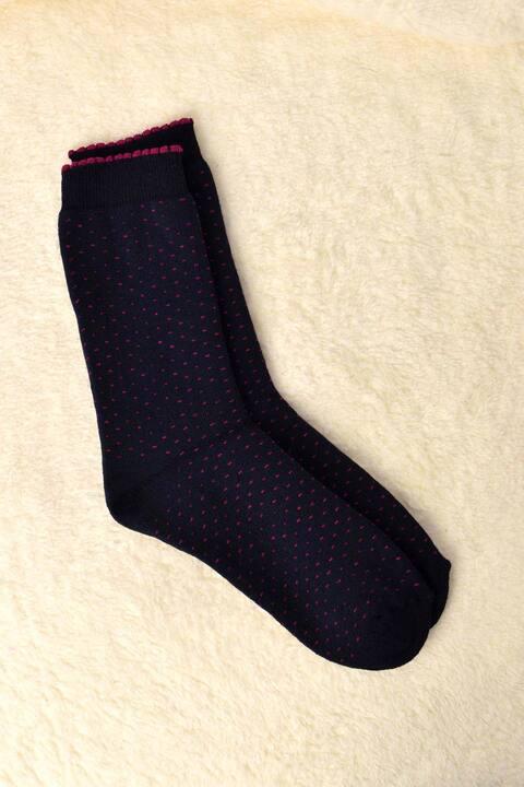 Γυναικείες κάλτσες με στρογγυλά σχέδια - Μπλε Σκούρο