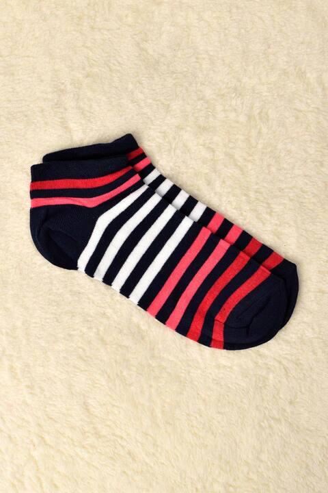 Γυναικείες κάλτσες με ρίγες - Μαύρο