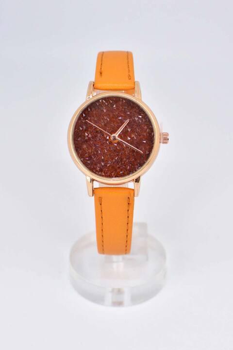 Ρολόι με ροζ χρυσό στεφάνι - Ταμπά