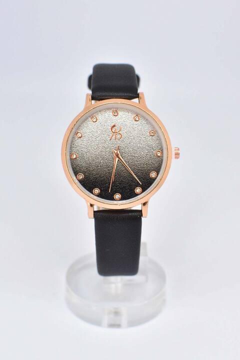 Ρολόι με στρας - Μαύρο