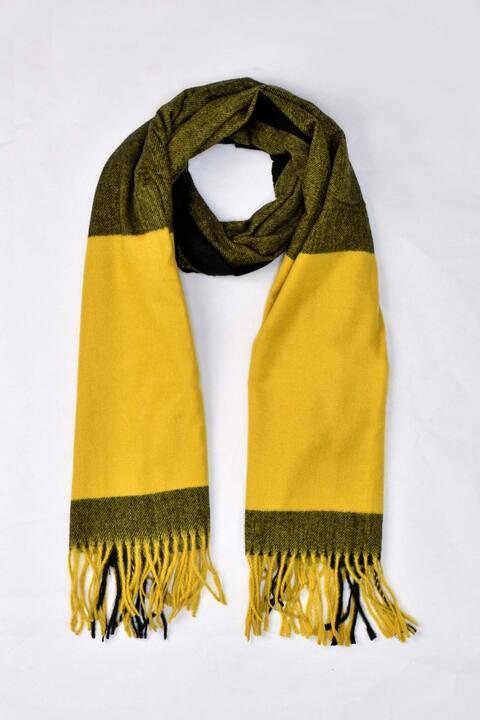 Γυναικείο κασκόλ καρό - Κίτρινο